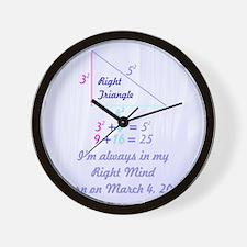 Right Mind Wall Clock