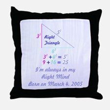 Right Mind Throw Pillow