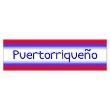 Puertorriqueño National Pride Bumper Bumper Sticker