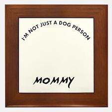 Black Russian Terrier mommy designs Framed Tile
