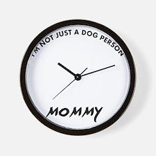 Black Russian Terrier mommy designs Wall Clock