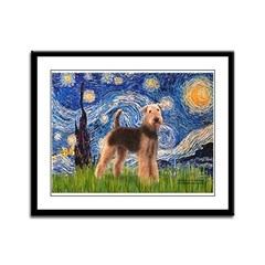 Starry Night - Airedale #6 Framed Panel Print