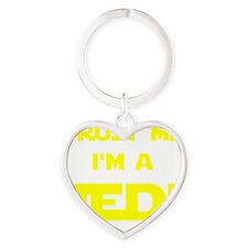 Trust Me I'm A Jedi Heart Keychain