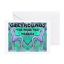More Greyhounds Greeting Cards (Pk of 10)