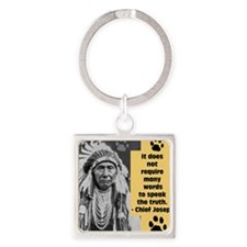 Truth Quote Square Keychain