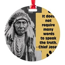 Truth Quote Ornament