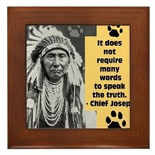 Truth Quote Framed Tile