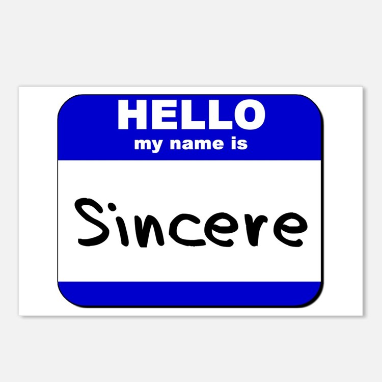 hello my name is sincere  Postcards (Package of 8)