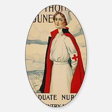 USA military Nurse country needs yo Sticker (Oval)