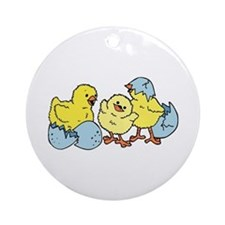 3 Chicks Ornament (Round)