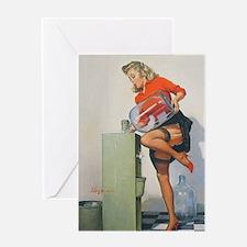 Classic Elvgren 1950s Pin Up Girl Greeting Card