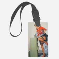 Classic Elvgren 1950s Pin Up Gir Luggage Tag