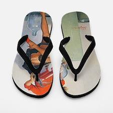 Classic Elvgren 1950s Pin Up Girl Flip Flops