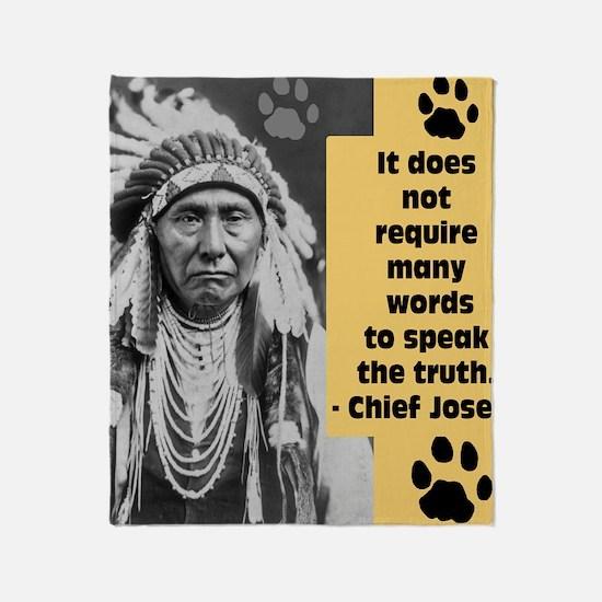 Chief Joseph Quote Throw Blanket