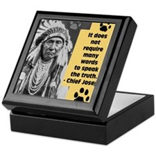 Chief Joseph Quote Keepsake Box