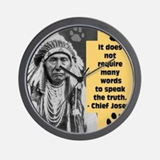 Chief Joseph Quote Wall Clock
