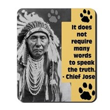 Chief Joseph Quote Mousepad