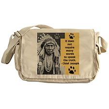 Chief Joseph Quote Messenger Bag