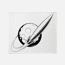 Retro Swoosh (Monochrome) Throw Blanket