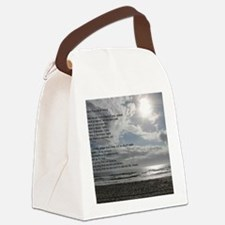 Prayer of St. Francis over beach Canvas Lunch Bag
