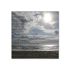 """Prayer of St. Francis over  Square Sticker 3"""" x 3"""""""