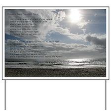 Prayer of St. Francis over beach Yard Sign