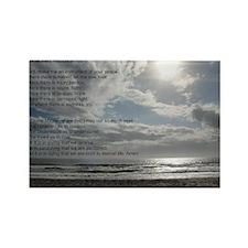 Prayer of St. Francis over beach Rectangle Magnet