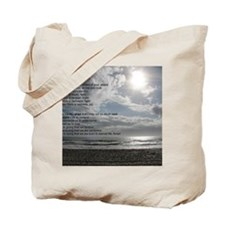 Prayer of St. Francis over beach Tote Bag