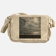 Prayer of St. Francis over beach Messenger Bag