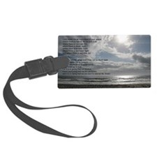 Prayer of St. Francis over beach Luggage Tag