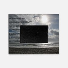 Prayer of St. Francis over beach Picture Frame