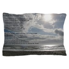 Prayer of St. Francis over beach Pillow Case