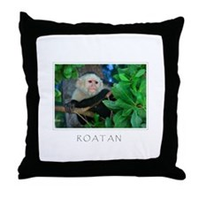 ROATAN Monkey Throw Pillow