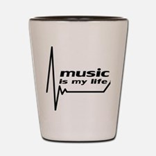 music_is_my_life Shot Glass