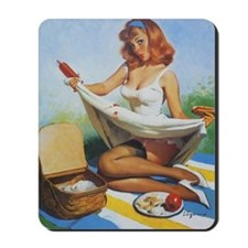 Classic Elvgren 1950s Pin Up Girl Mousepad
