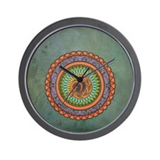 Lizard Mandala Wall Clock