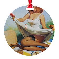 Classic Elvgren 1950s Pin Up Girl Ornament