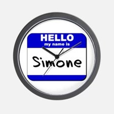 hello my name is simone  Wall Clock