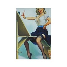 Classic Elvgren 1950s Pin Up Girl Rectangle Magnet