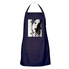 Sexy Woman Watercolor Painting Apron (dark)