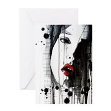 Sexy Woman Watercolor Painting Greeting Card