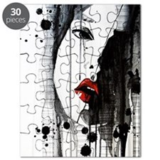 Sexy Woman Watercolor Painting Puzzle