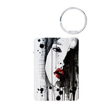 Sexy Woman Watercolor Pain Keychains