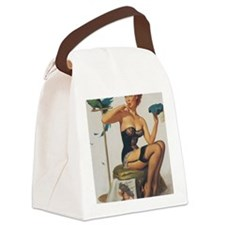 Classic Elvgren 1950s Pin Up Girl Canvas Lunch Bag