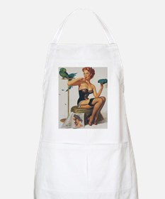 Classic Elvgren 1950s Pin Up Girl Apron