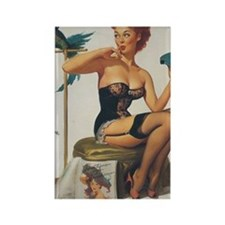 Classic Elvgren 1950s Pin Up Girl Rectangle Magnet
