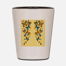 Yellow Butterflies Shot Glass
