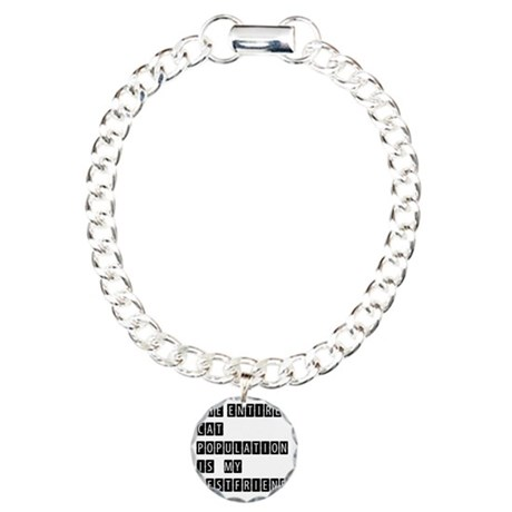 THE ENTIRE CAT POPULATIO Charm Bracelet, One Charm