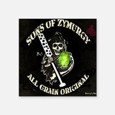 "Sons of Zymurgy All Grain O Square Sticker 3"" x 3"""