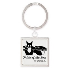 Pride of the Fox Square Keychain